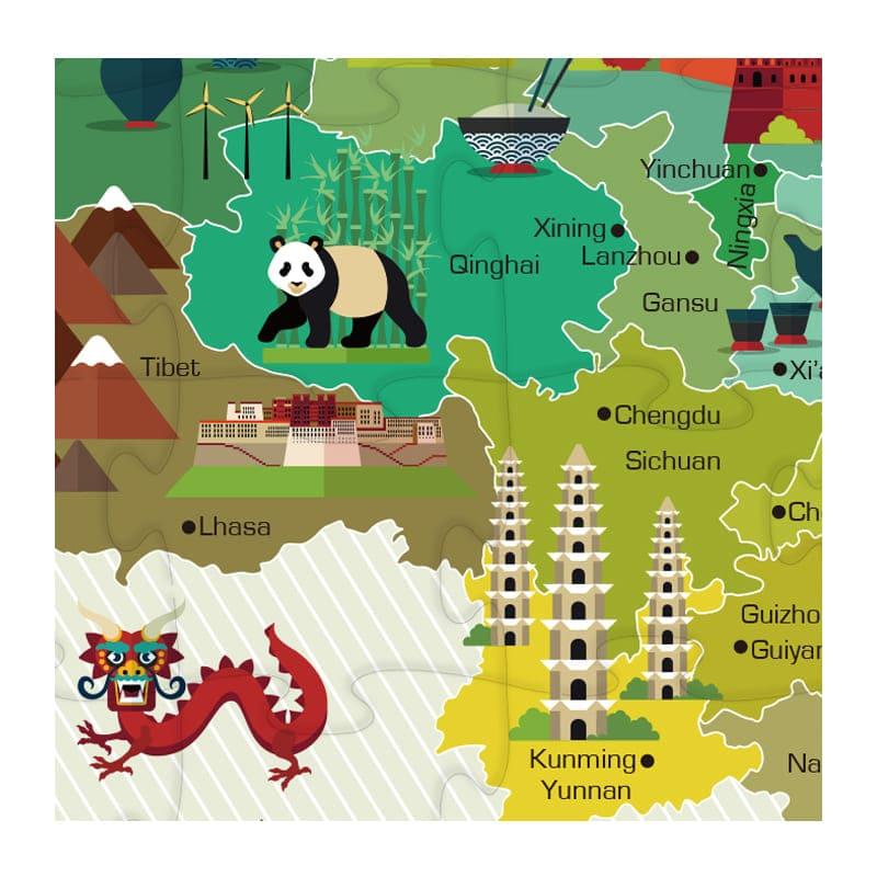 Map Puzzle-35pcs