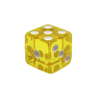 Translucent 6 Sided Dice with Square Corner