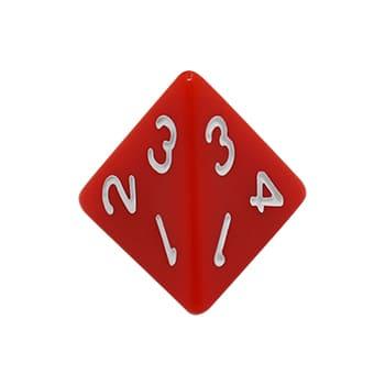 Dados de jogo poliédricos de 4 lados